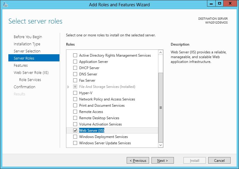آموزش نصب IIS بر روی ویندوز سرور 2012 - تصویر پنجم