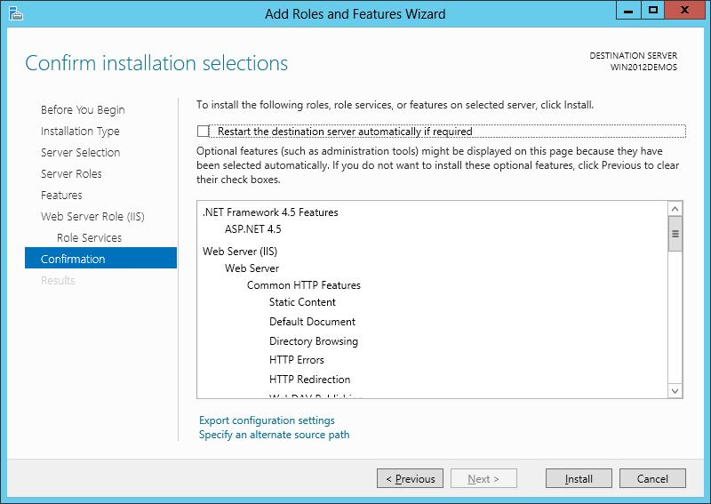 آموزش نصب IIS بر روی ویندوز سرور 2012 - تصویر نهم